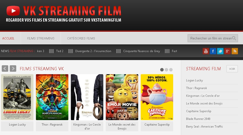 VKstreaming est l'un des meilleurs sites de streaming 2018